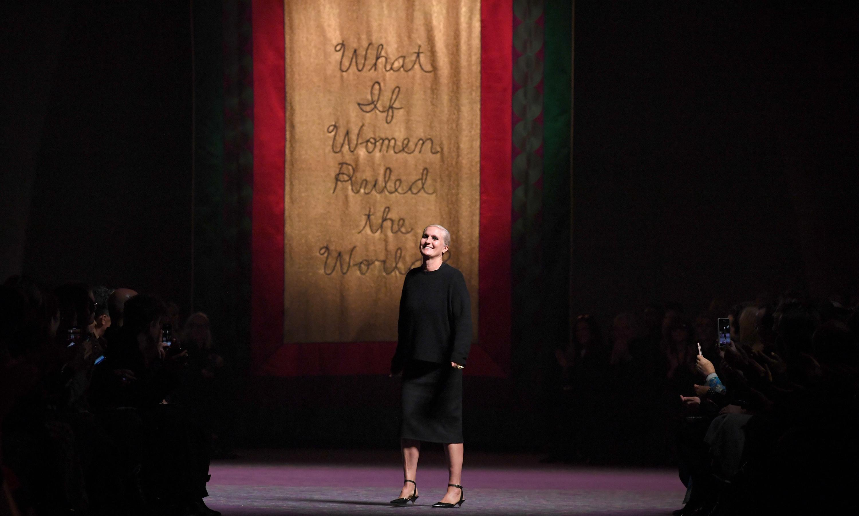 Clothes fail to match ambition at Christian Dior's Paris show