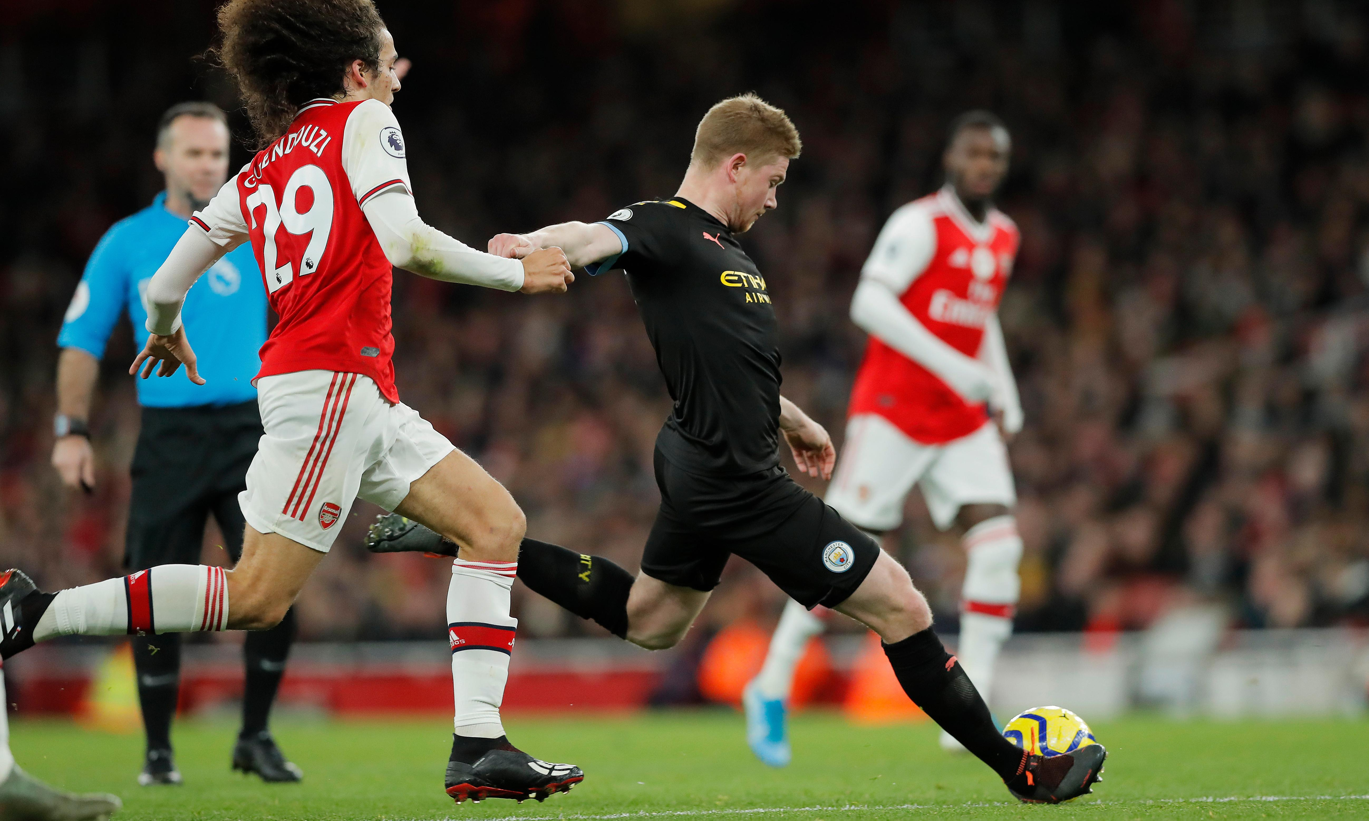 Kevin De Bruyne at the double as City blow Arsenal away with early salvo