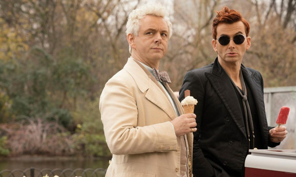 Michael Sheen and David Tennant in Good Omens.