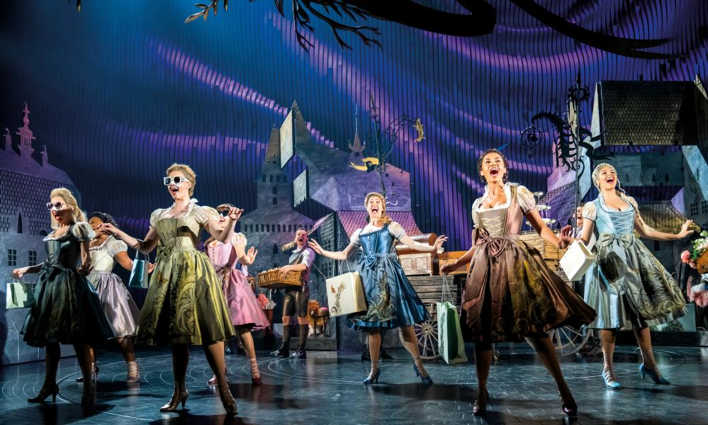 A scene from Cinderella at the Gillian Lynne theatre in London.