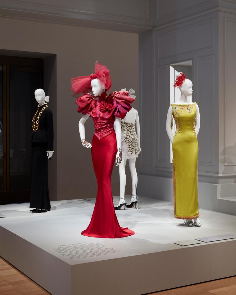 More John Galliano for Dior gowns, including Nicole Kidman's 1997 Oscar dress, in the NGV House of Dior: 70 years of haute couture exhibition
