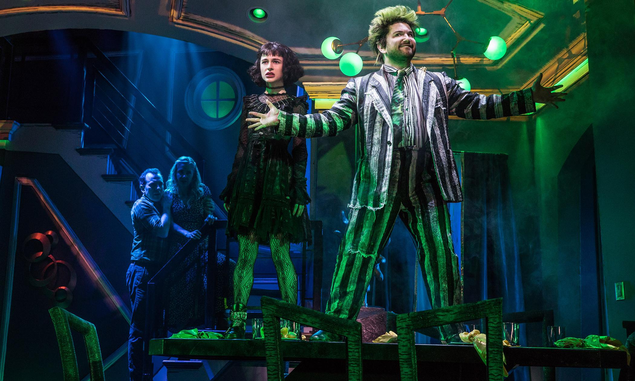 Beetlejuice review – fun, freaky Tim Burton adaptation haunts Broadway