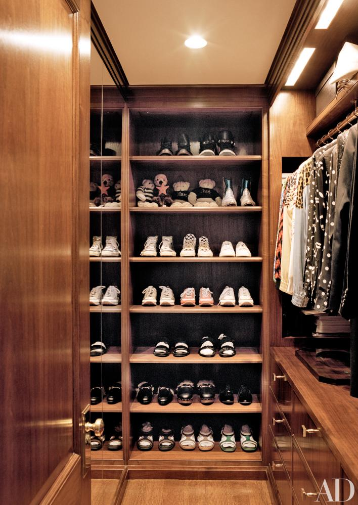Mahogany closets lend a hotel-like feeling.