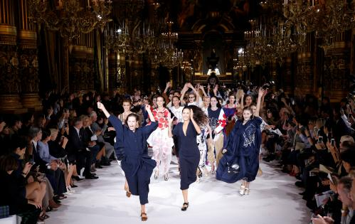 Models present creations by Stella McCartney