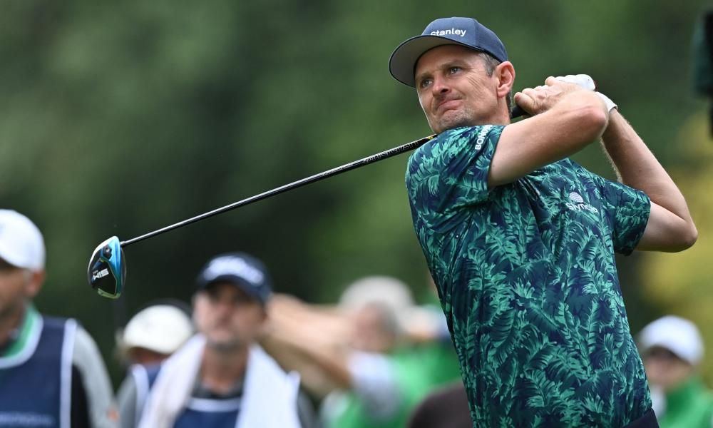 Justin Rose tees off at Wentworth en route to signing for an impressive 67.