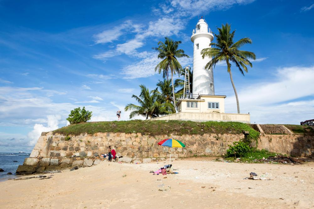 The beach off Galle Fort