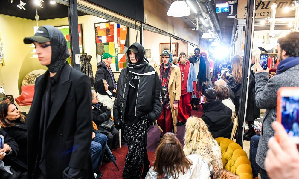 Vetements' autumn/winter 2018 show at Saint-Ouen's flea market