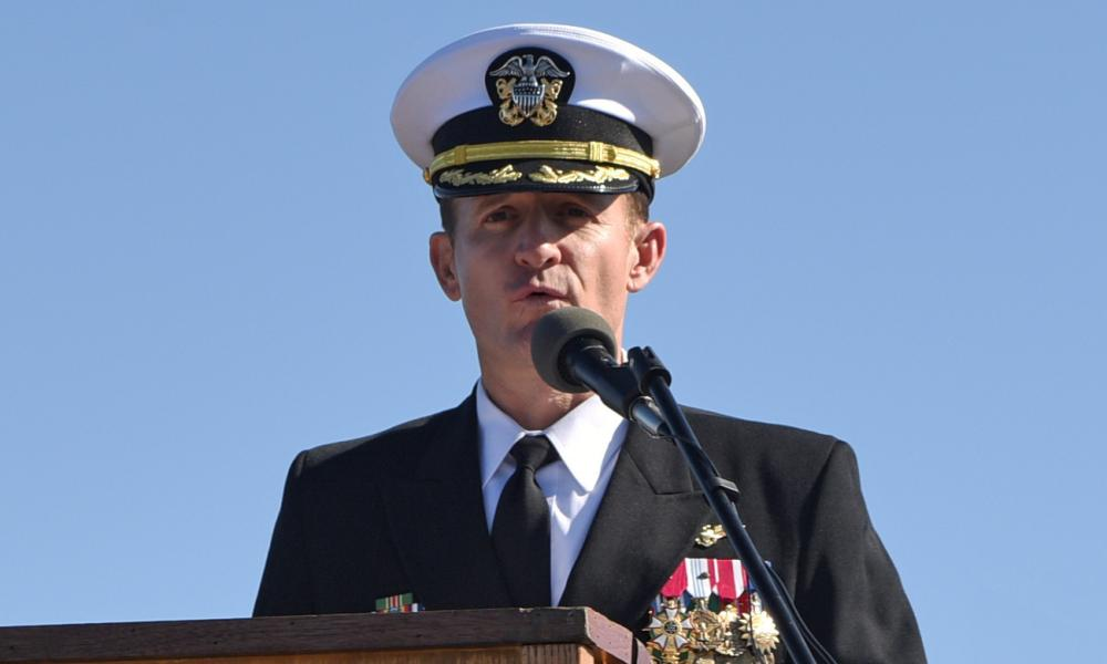 Captain Brett Crozier was removed as commander of the Theodore Roosevelt aircraft carrier.