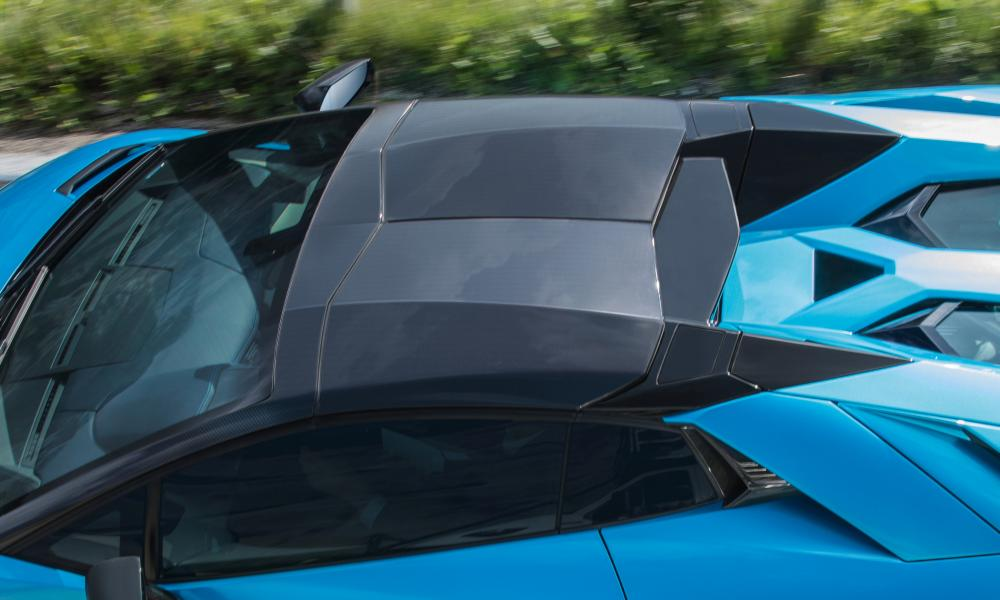 Form and function: origami bodywork on the Aventador.