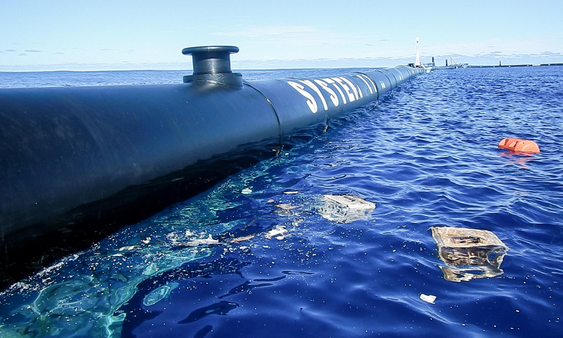 Great Pacific garbage patch: giant plastic trap put to sea again