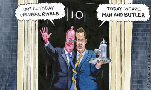 Steve Bell on Cameron and Clegg.