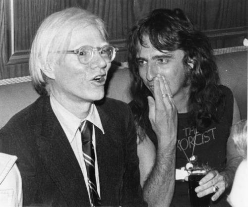 Andy Warhol and Alice Cooper in 1974.