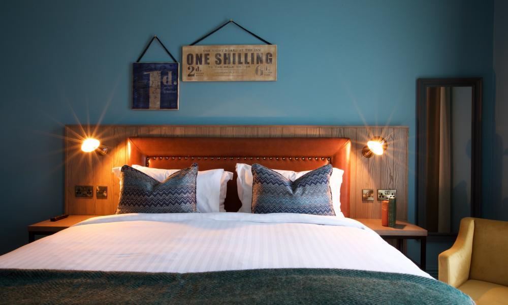 bedroom at The White Hart, Dorking
