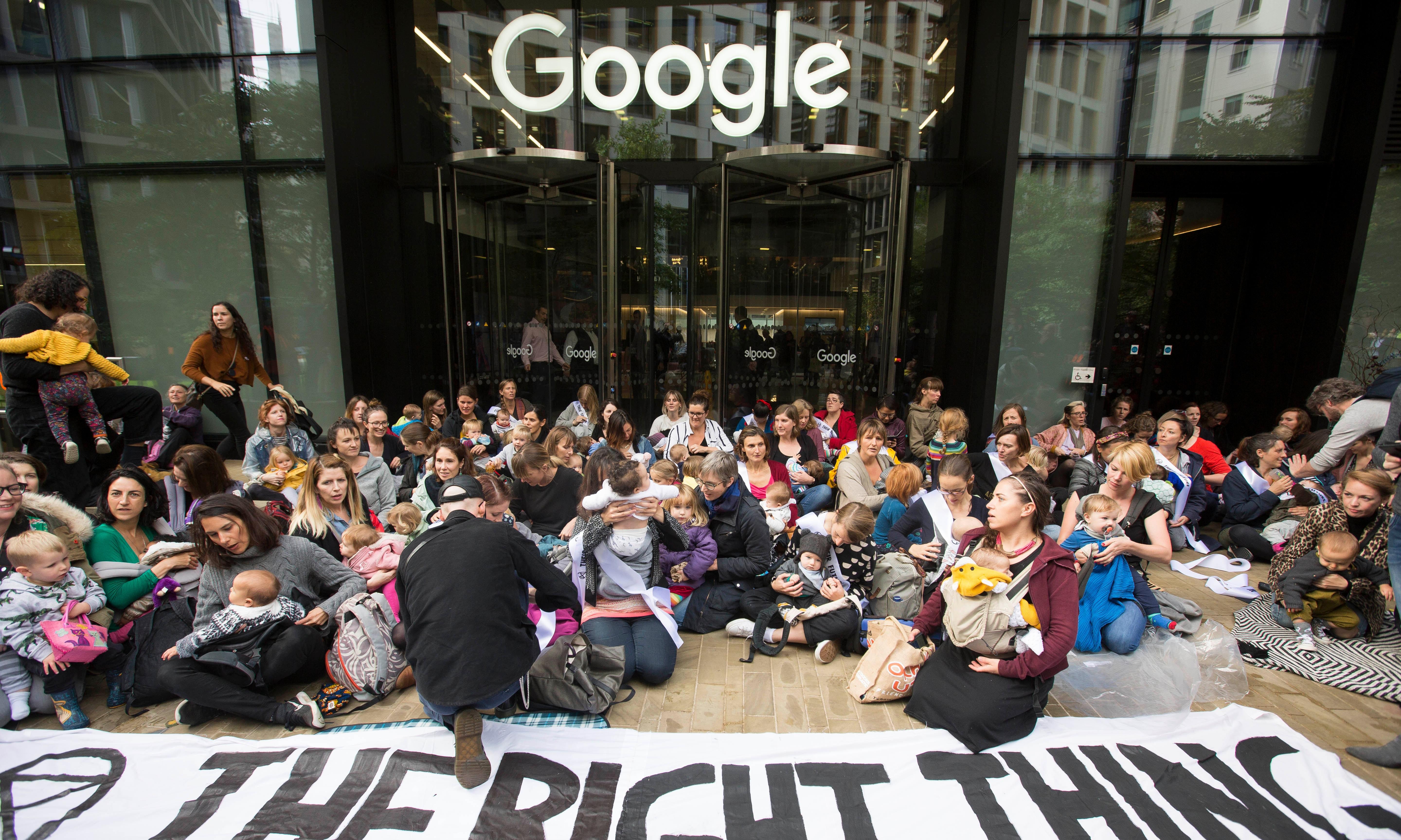 Extinction Rebellion defies protest ban and targets Google