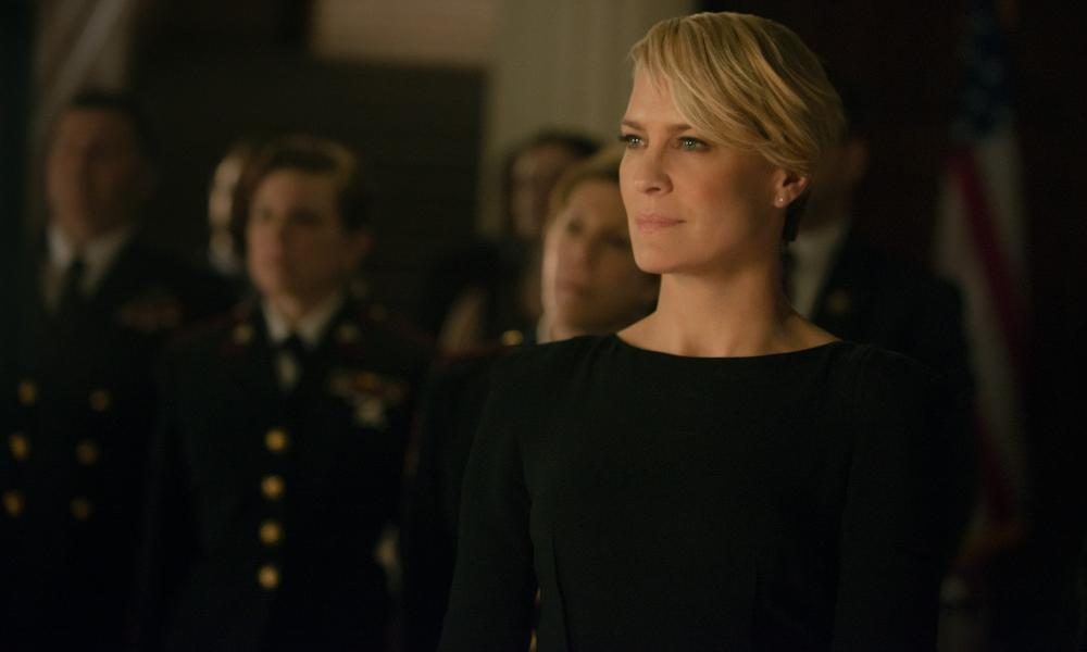 Reach for the Skyler: Robin Wright as Claire Underwood in House of Cards.