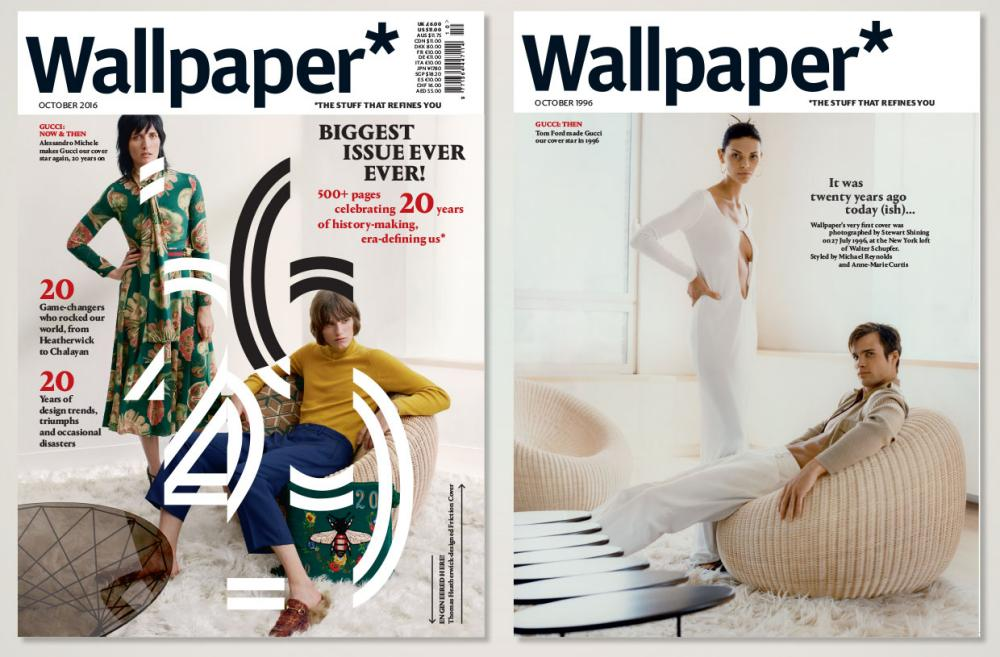 Wallpaper's two 20th-anniversary covers, a 508-page edition.