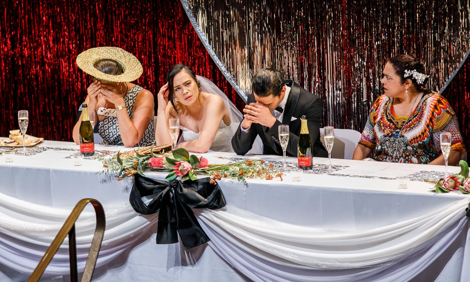 Black Ties review – chaos, comedy and cultural clashes in a wedding gone wrong