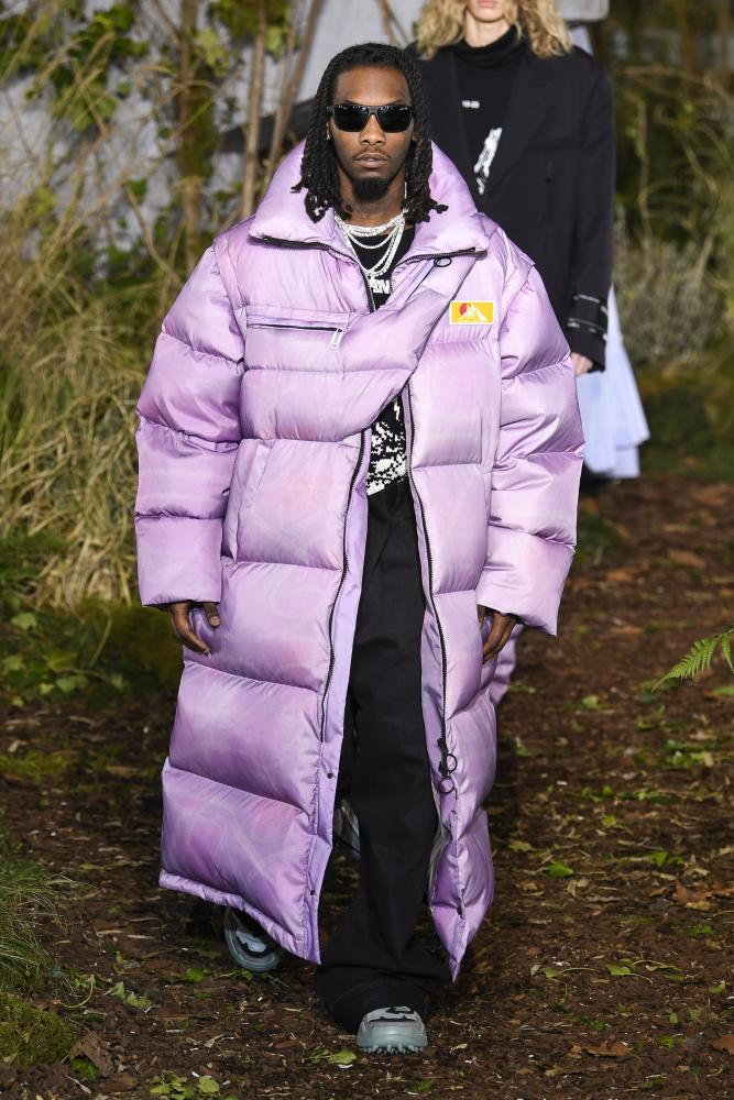 Offset on the catwalk for the Off-White show, Paris.
