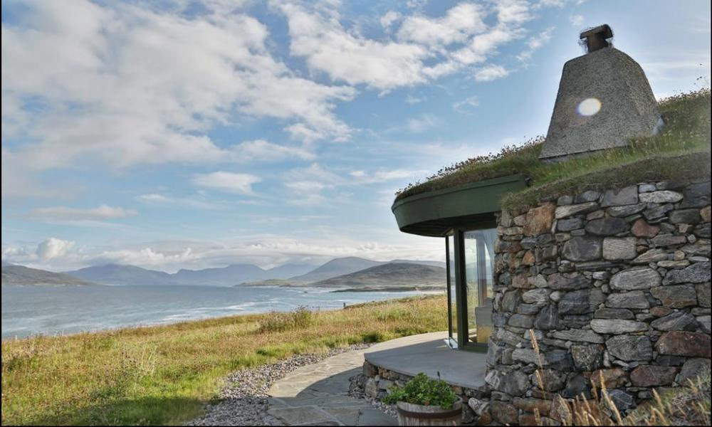 Icelandic-style turf houses