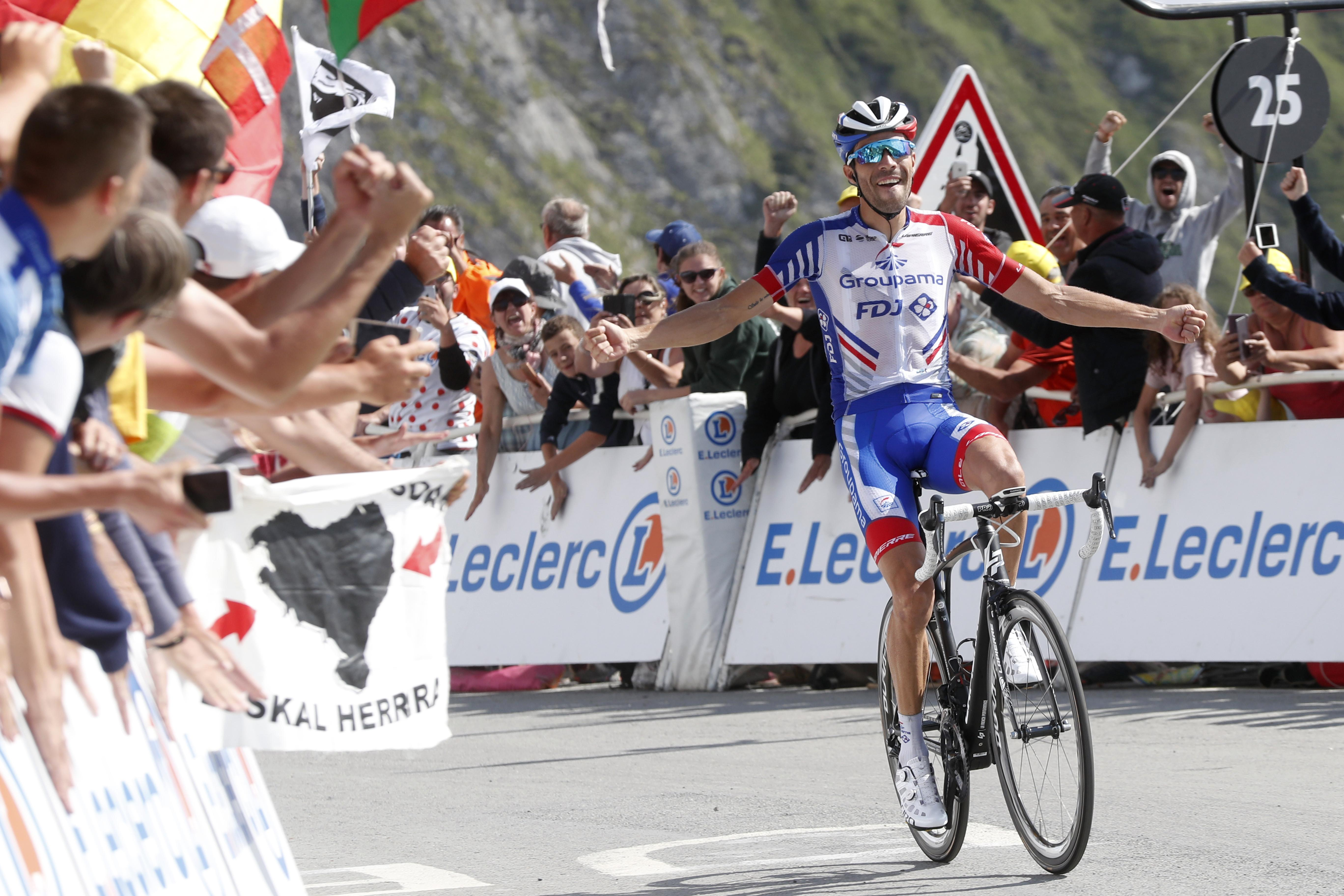 Pinot wins Tour de France stage 14 and Alaphilippe extends lead over Thomas
