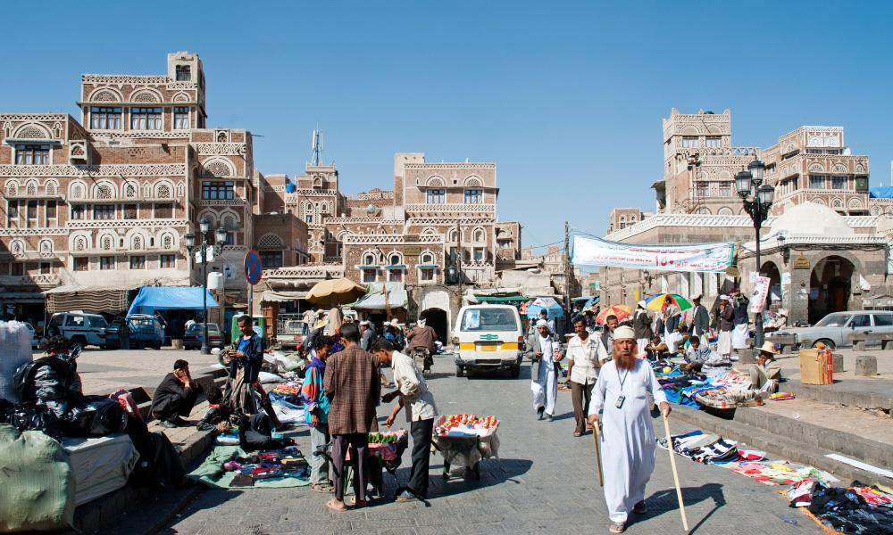 Bab Yemen Square in Sana'a, the ancient jewel of Yemen.