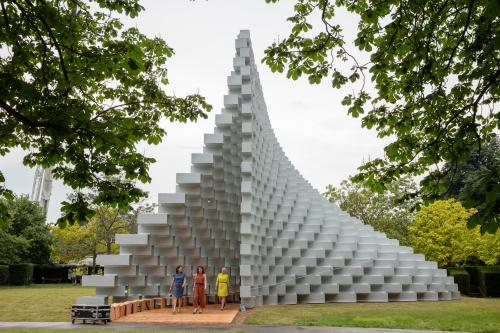 The 2016 Serpentine Pavilion, designed by the Bjarke Ingels Group