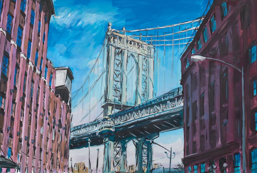 Manhattan Bridge, Downtown New York, 2015–2016 by Bob Dylan.