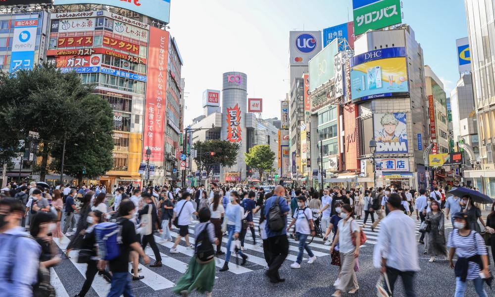 People walking in Shibuya, Tokyo