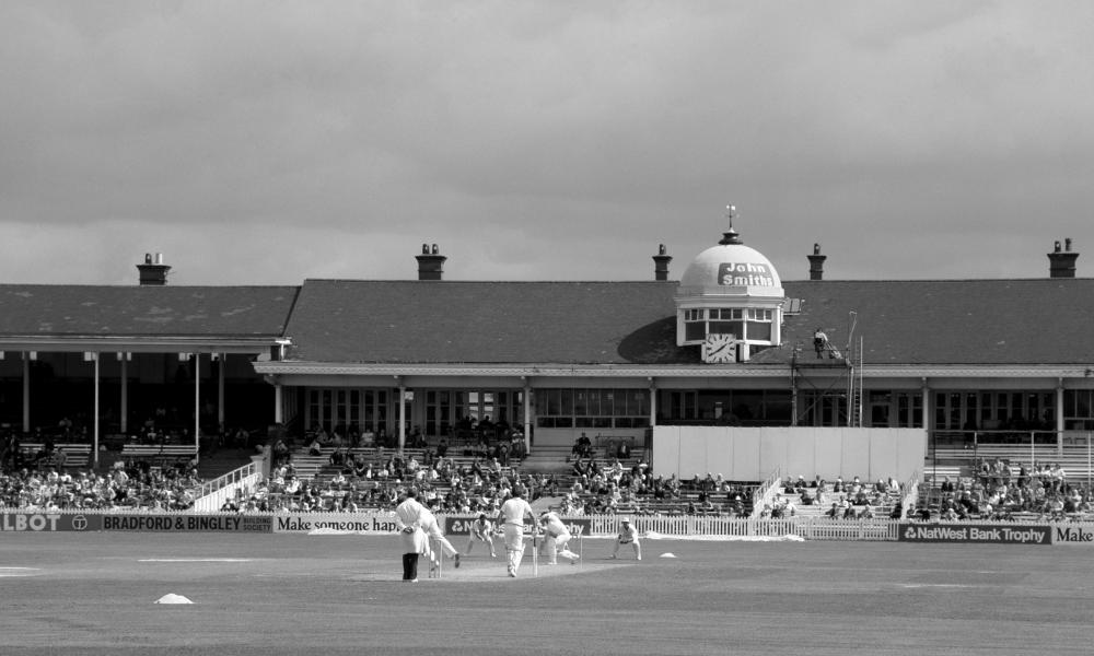 Derbyshire County Cricket Ground in 1981, over 90 years after Derbyshire CCC was nearly run into the ground by its administrator Samuel Richardson.