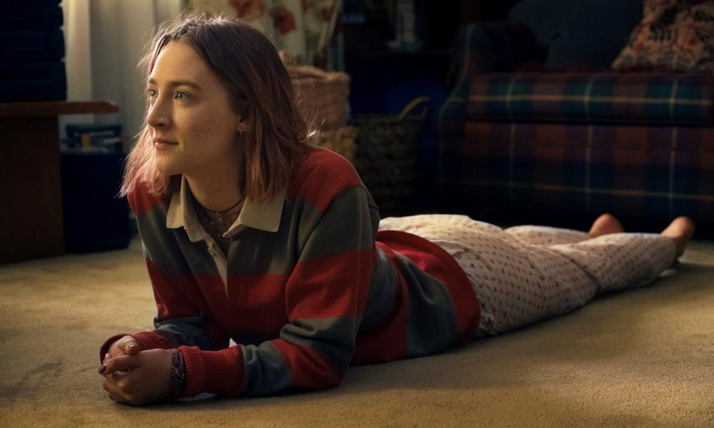 Saoirse Ronan as Lady Bird in the film of the same name, Greta Gerwig's acclaimed solo directorial debut.