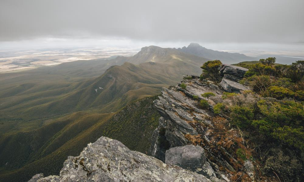 The top of Bluff Knoll in the Stirling Range near Albany, Western Australia.