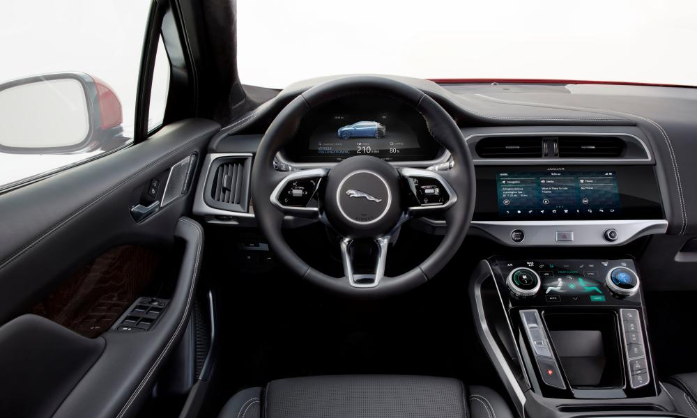 Fingertip control: the luxurious interior of the Jaguar