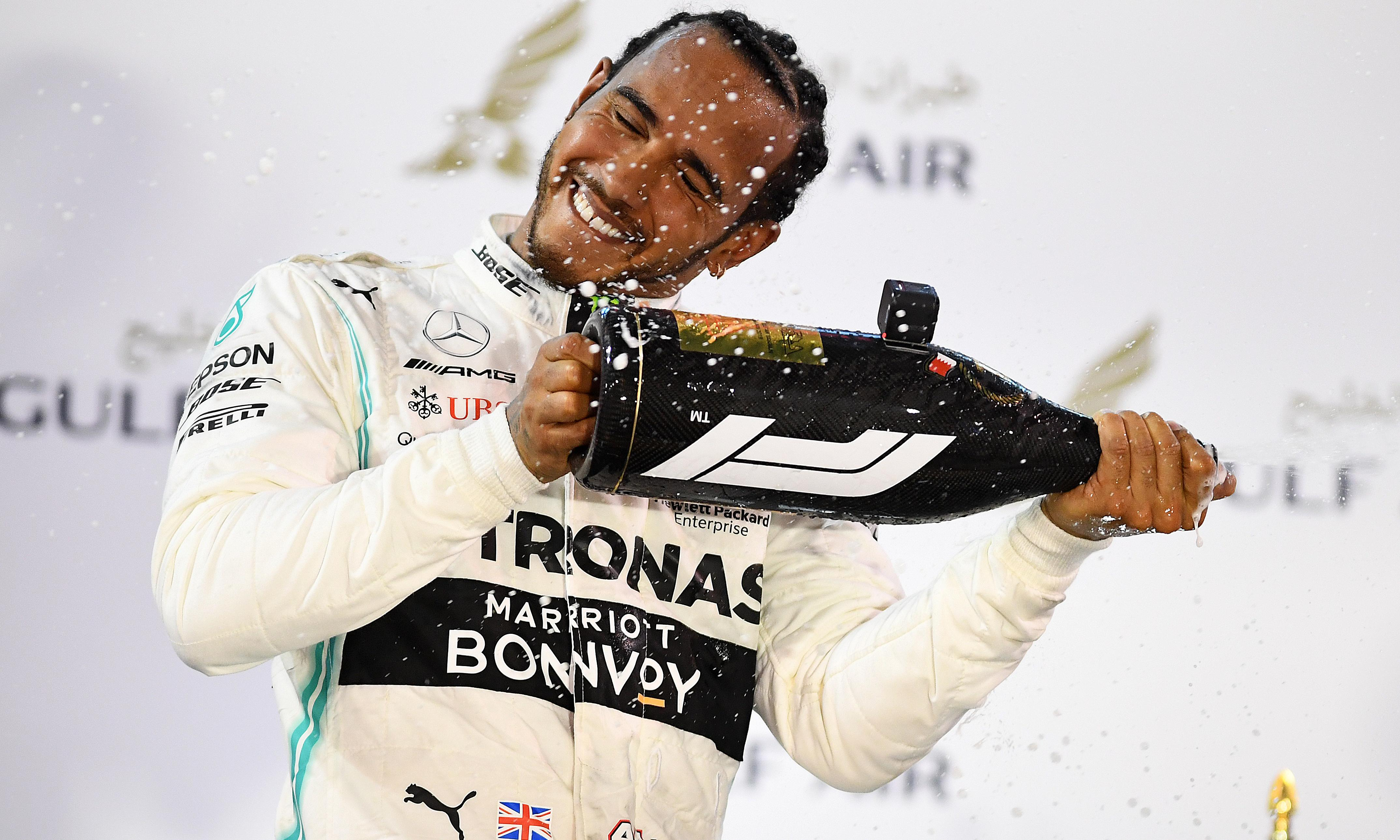 Lewis Hamilton wins in Bahrain after Charles Leclerc loses power and lead