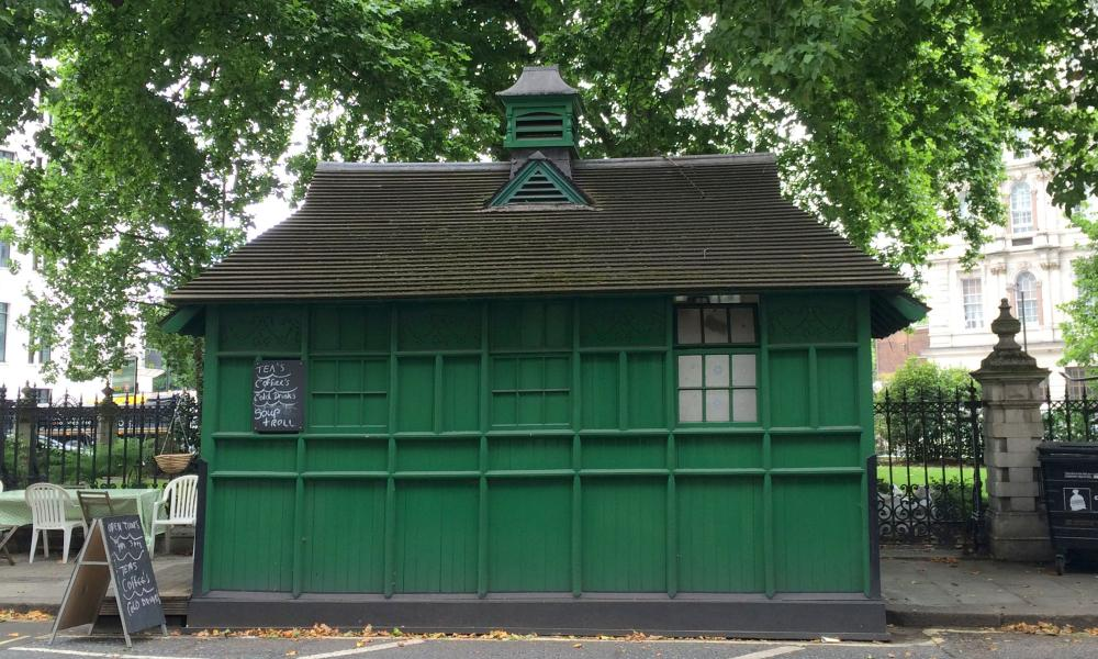 The cabbies' shelter in Grosvenor Gardens, London.