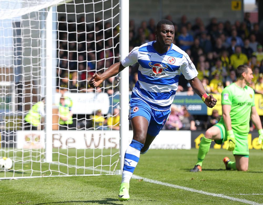 Joseph Mendes celebrates after he scoring the opener for Reading.
