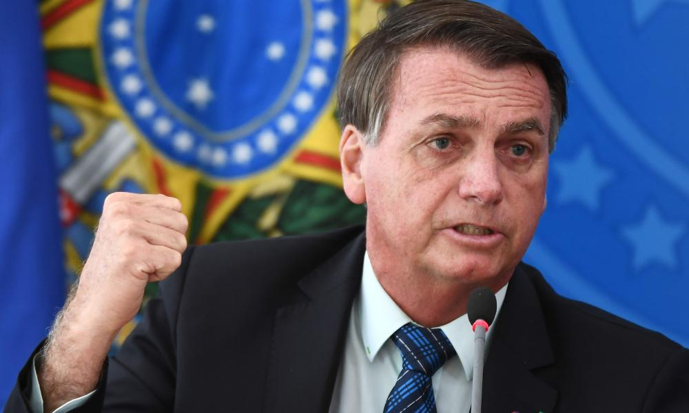 Brazil's president Jair Bolsonaro says Covid is a 'little flu'.