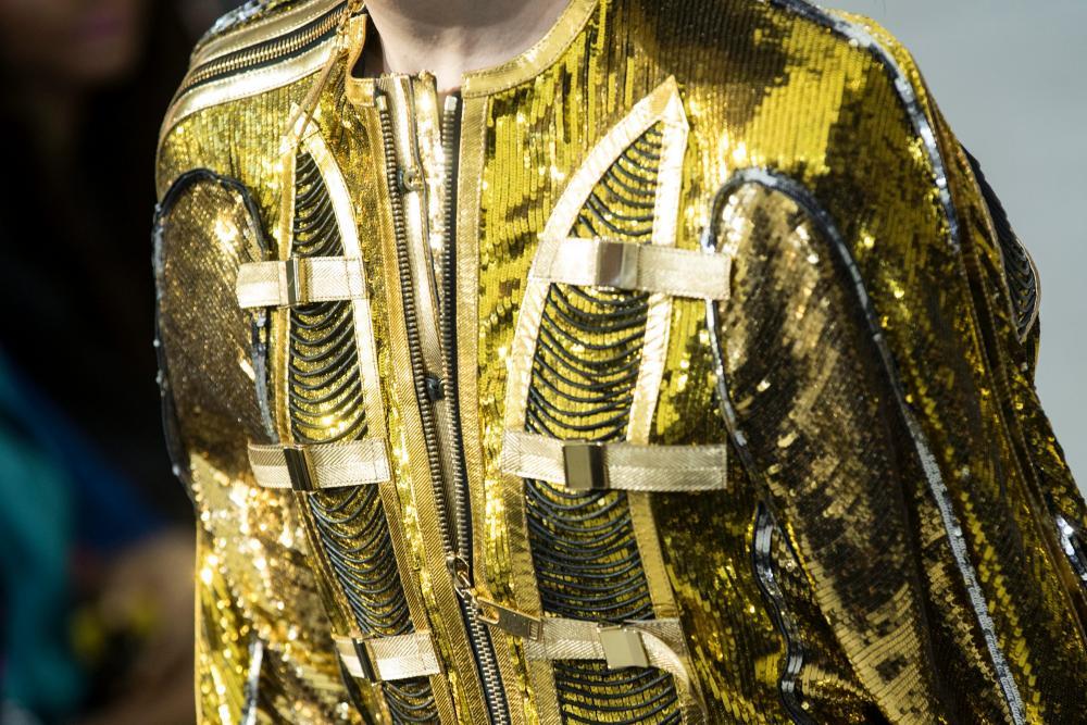 Gilty pleasure: metallic elegance at Louis Vuitton.