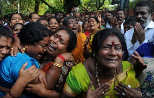 Supporters of Jayalalithaa Jayaram