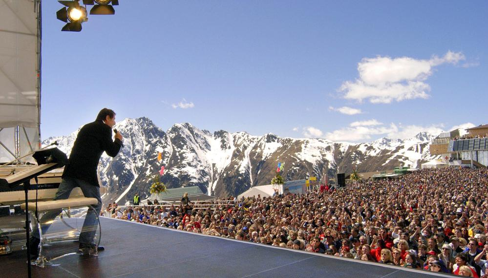 Ischgl's outdoor Top of the Mountain concert