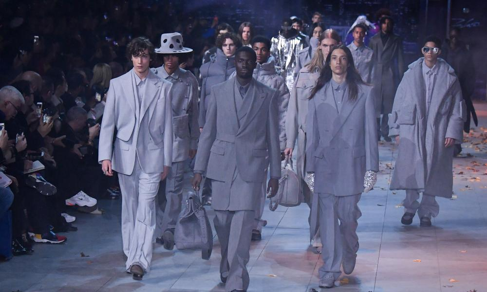 Grey zoot suits led the way at Louis Vuitton