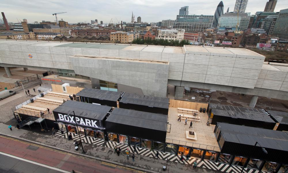 Boxpark turned shipping containers in Shoreditch into an 'urban mall' that merges directly with the London street.