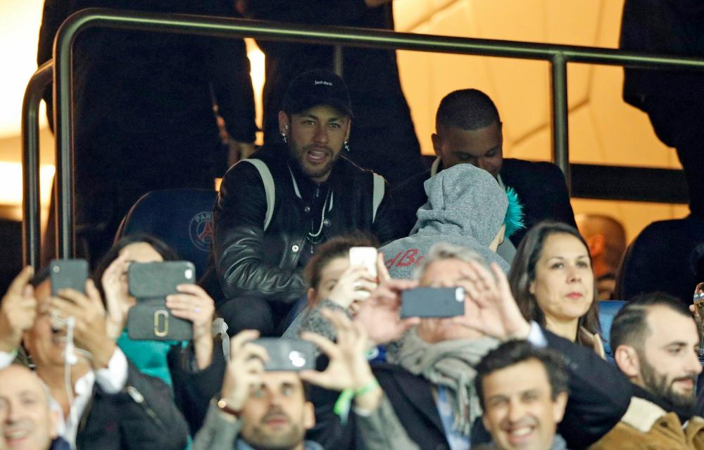 An injured Neymar could only sit in the stands and watch as his PSG side unravelled.