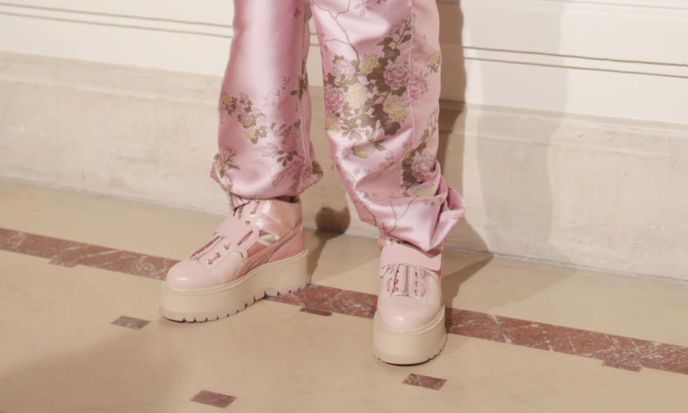 Baby Spice platforms at the Fenty x Puma show.
