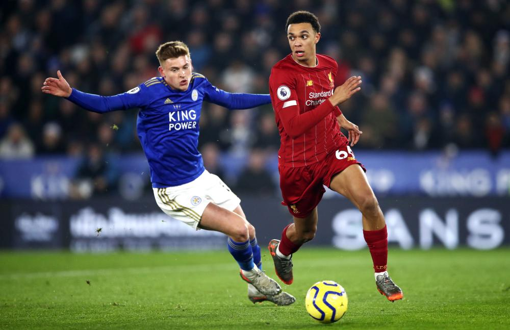 Harvey Barnes (left) says last season's Boxing Day defeat to Liverpool was 'real insight into the level you need to hit to be a top team'.