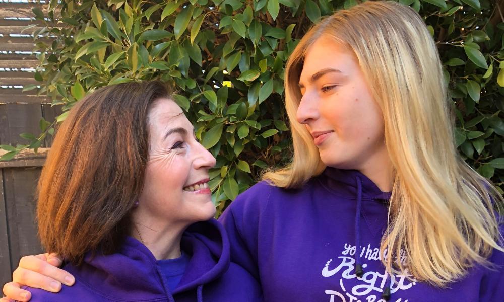 Rebekah Robertson and her daughter Georgie Stone