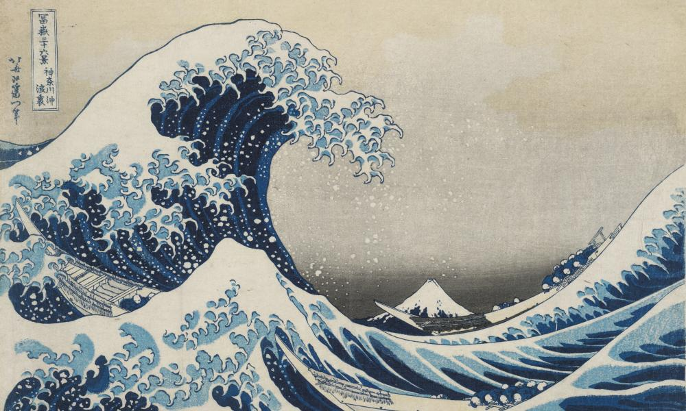 The Great Wave (1831), from Thirty-Six Views of Mt Fuji, by Hokusai.