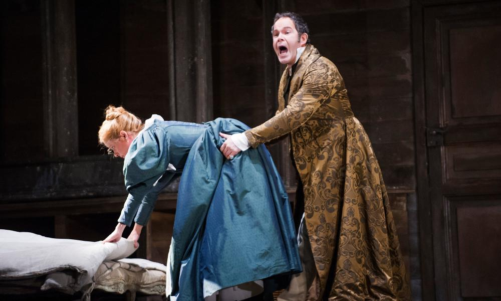 'Privilege and Mozart have a fascinating, fraught relationship' – Gerald Finley as Count Almaviva and Camilla Tilling (Susanna) in Le Nozze Di Figaro at the Royal Opera House, 2014.