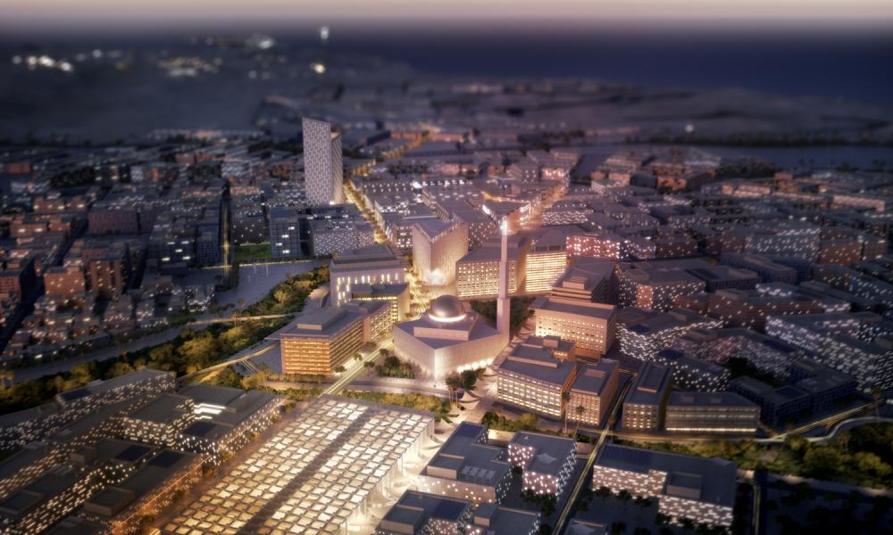 A render from Duqm's masterplan.