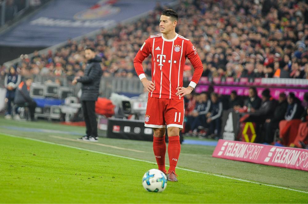 James Rodriguez in action for Bayern Munich