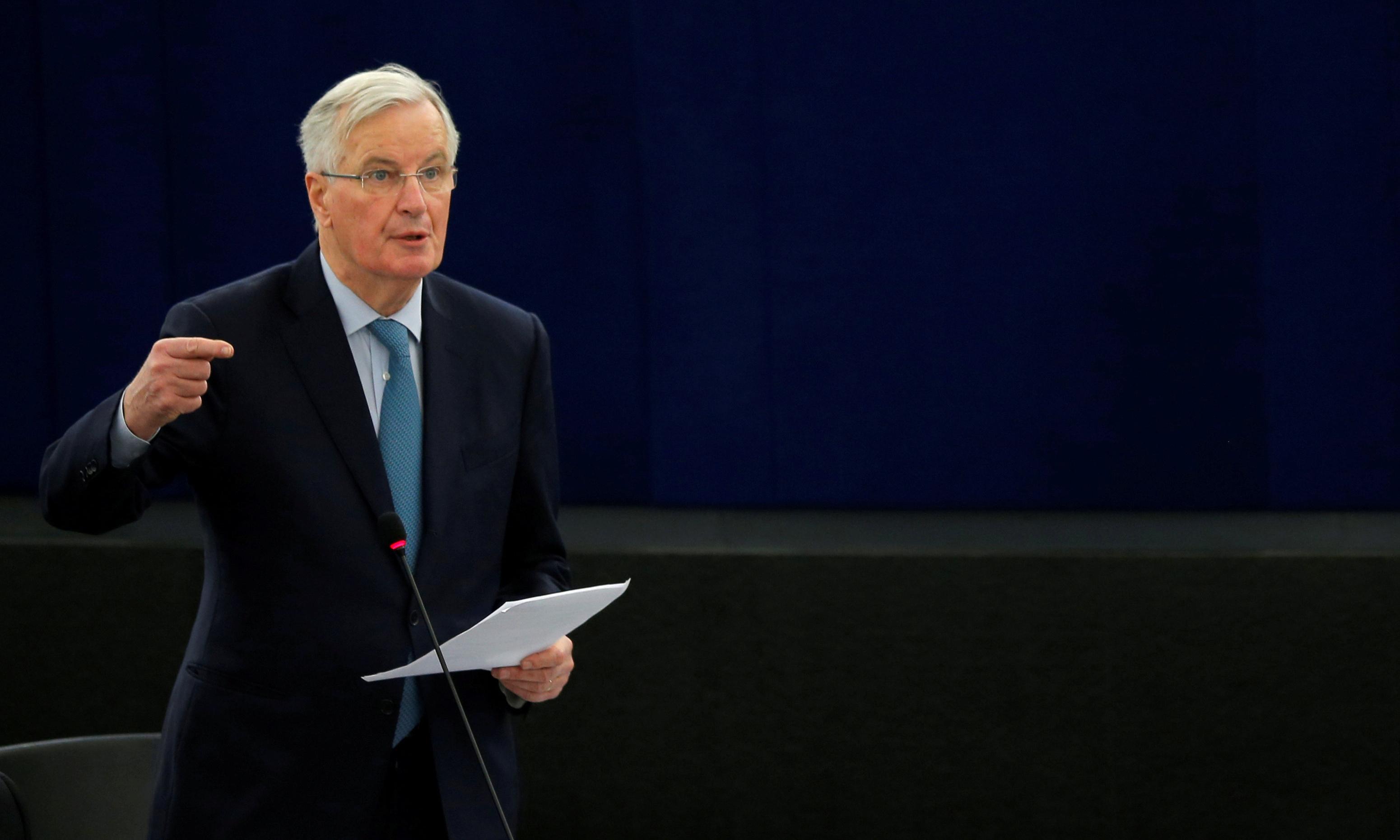 Barnier urges May to shift focus away from backstop